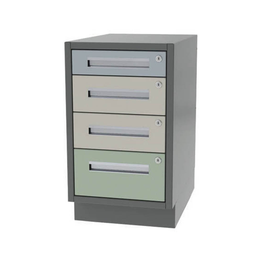 Four drawer variable narrow width base cabinet for Cabinet widths