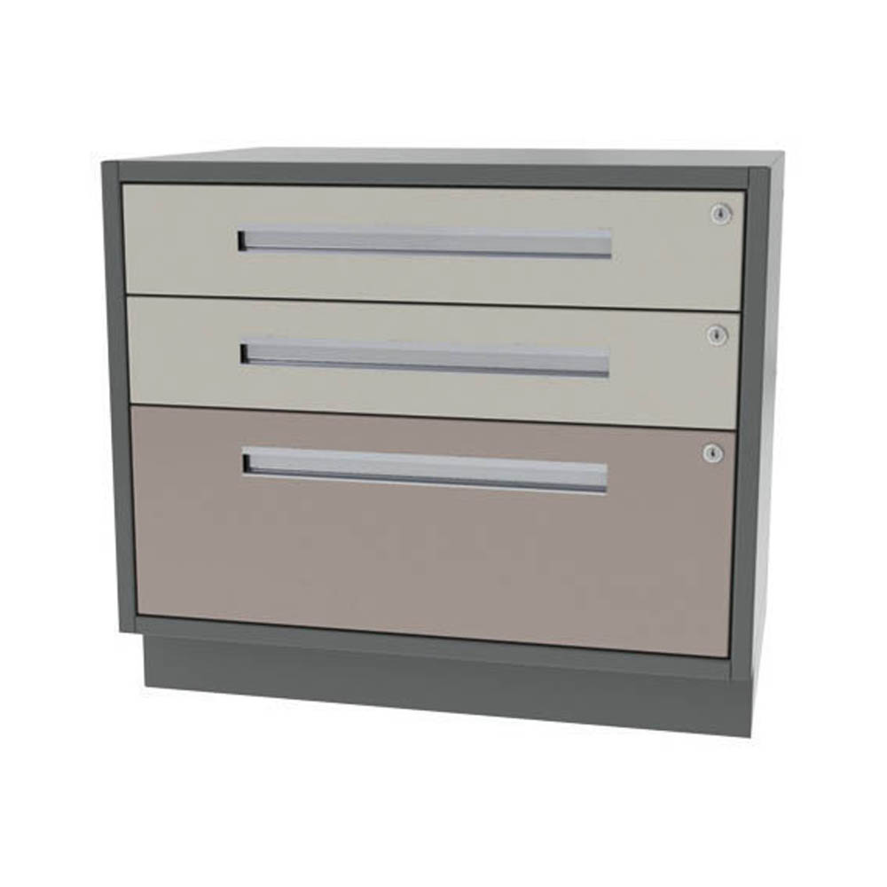 Three drawer two drawer one file wide width base for Cabinet widths