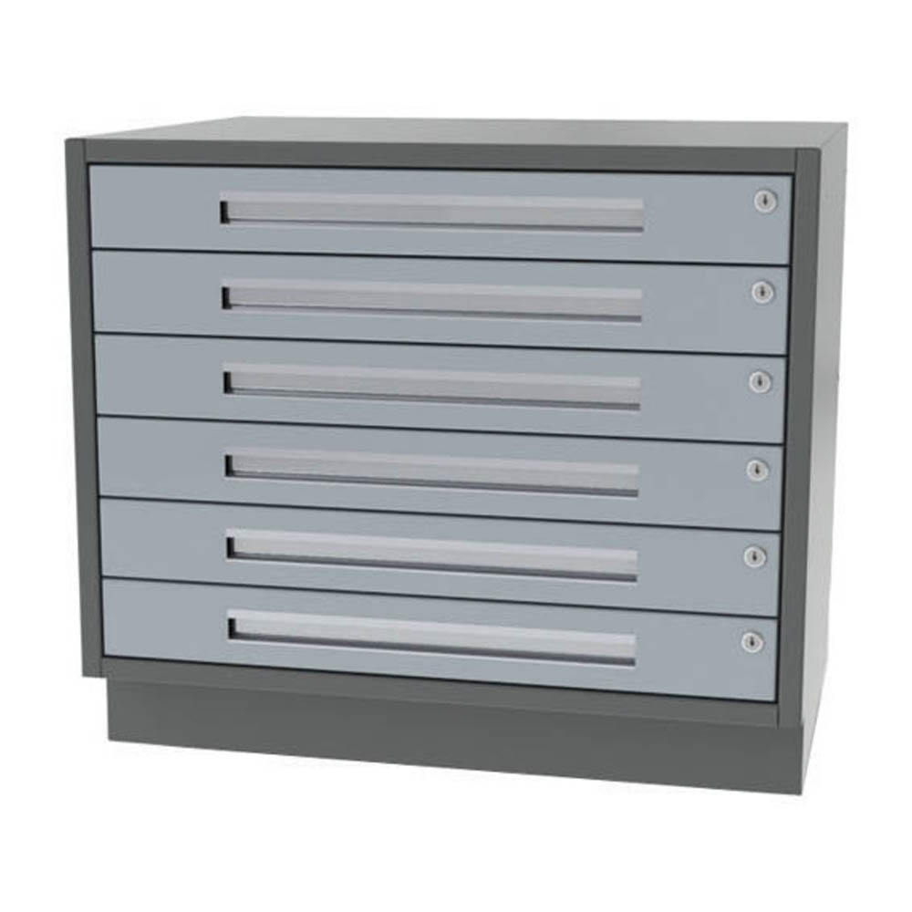 Six drawer wide width base cabinet for Cabinet widths