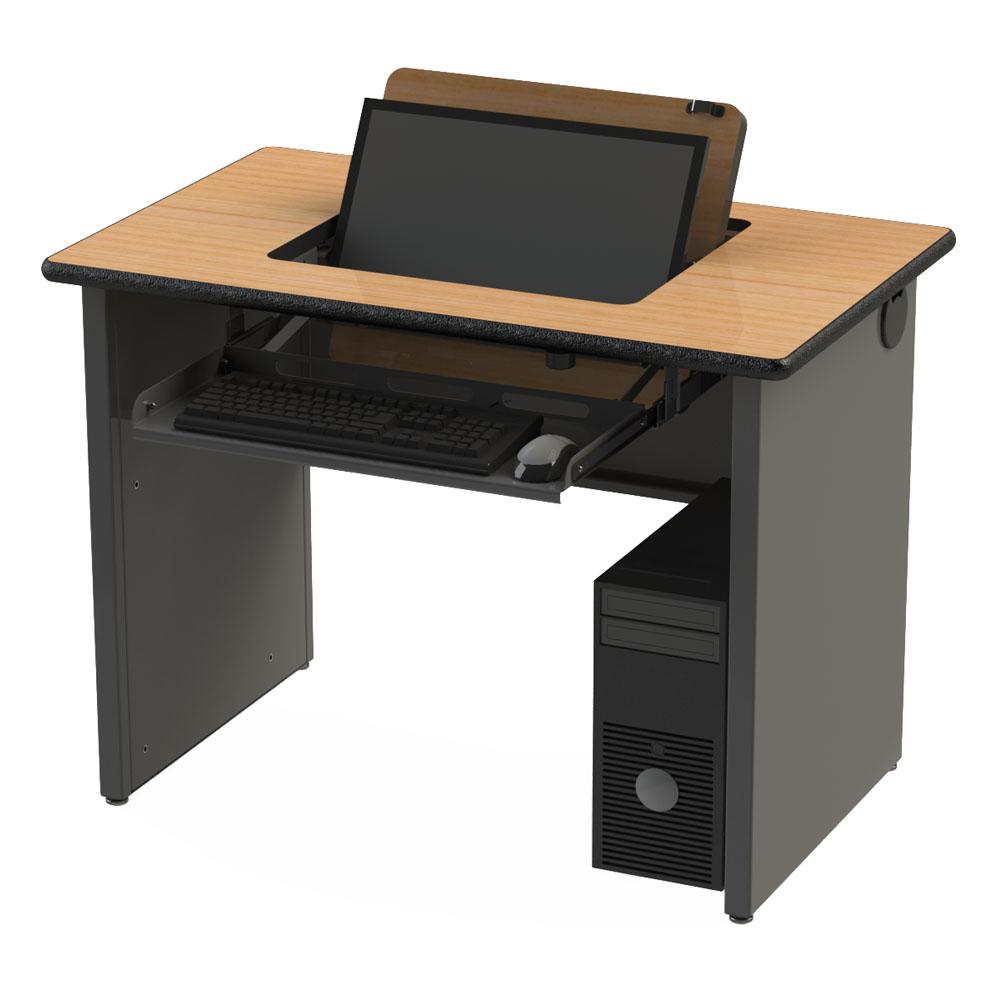 Sri series flip desk for Flip top computer desk