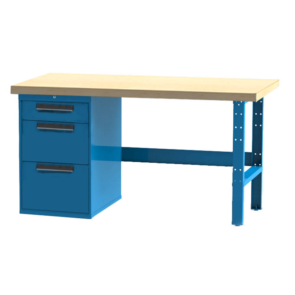 Industrial Workbench 3 Drawer Cabinet