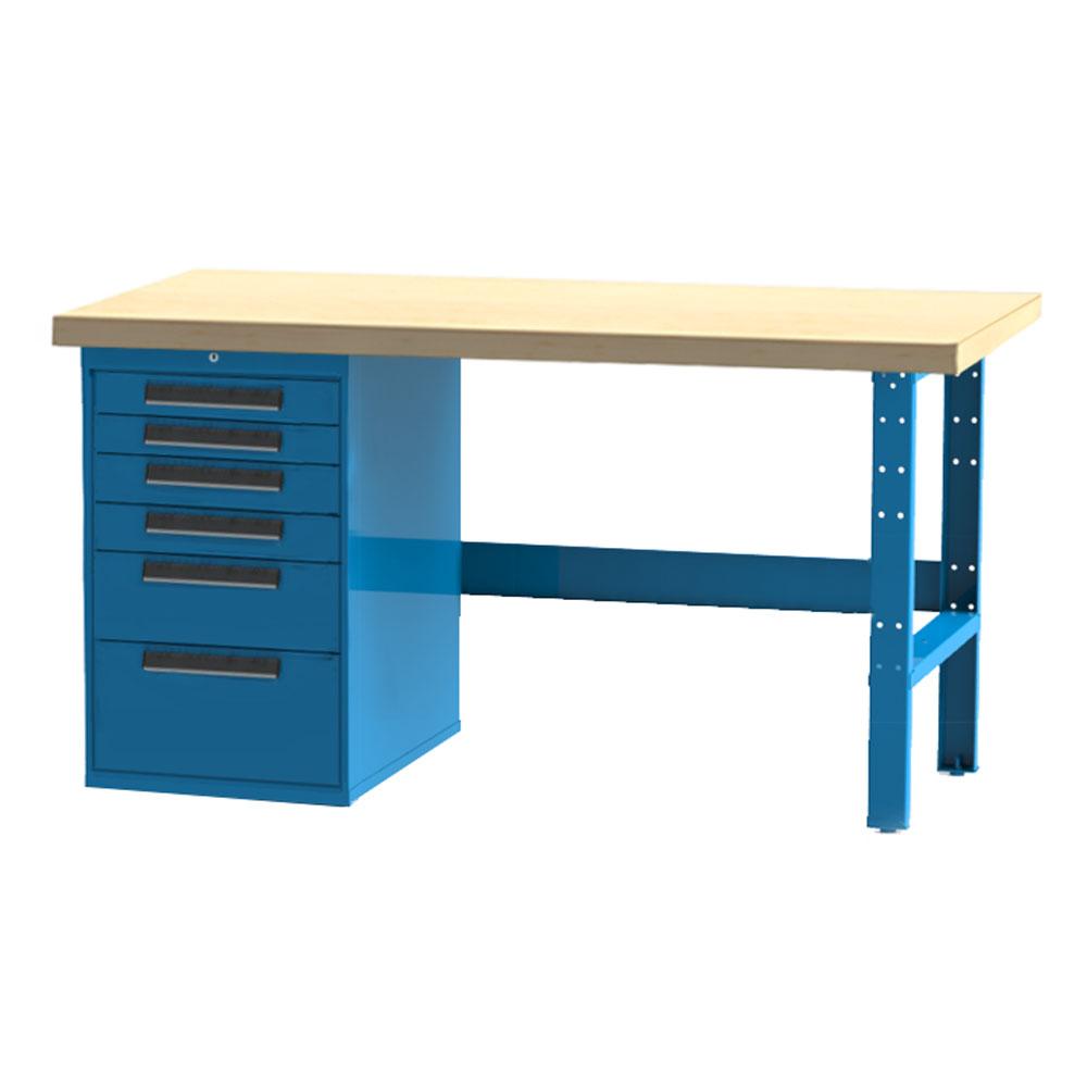 Industrial Workbench 6 Drawer Cabinet
