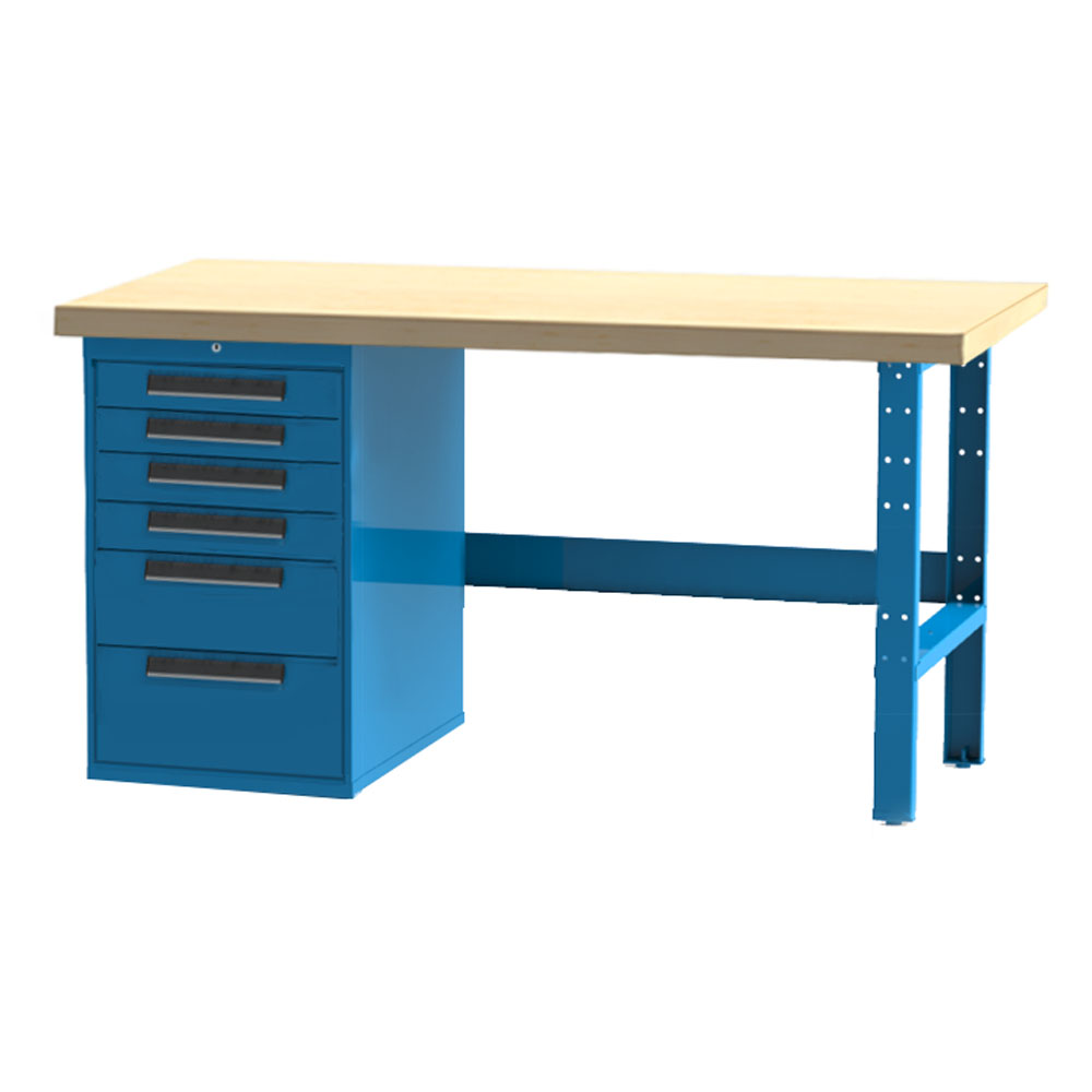 Pleasing Industrial Workbench 6 Drawer Cabinet Gmtry Best Dining Table And Chair Ideas Images Gmtryco